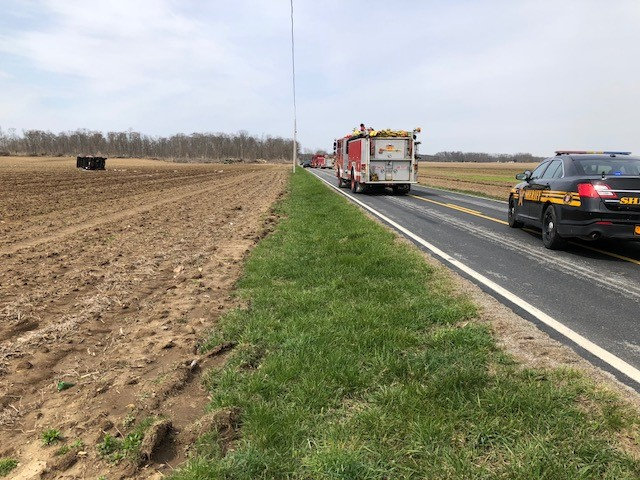 Careflight responds to Jefferson Twp crash after vehicle loses control, goes into field (WKEF/WRGT)