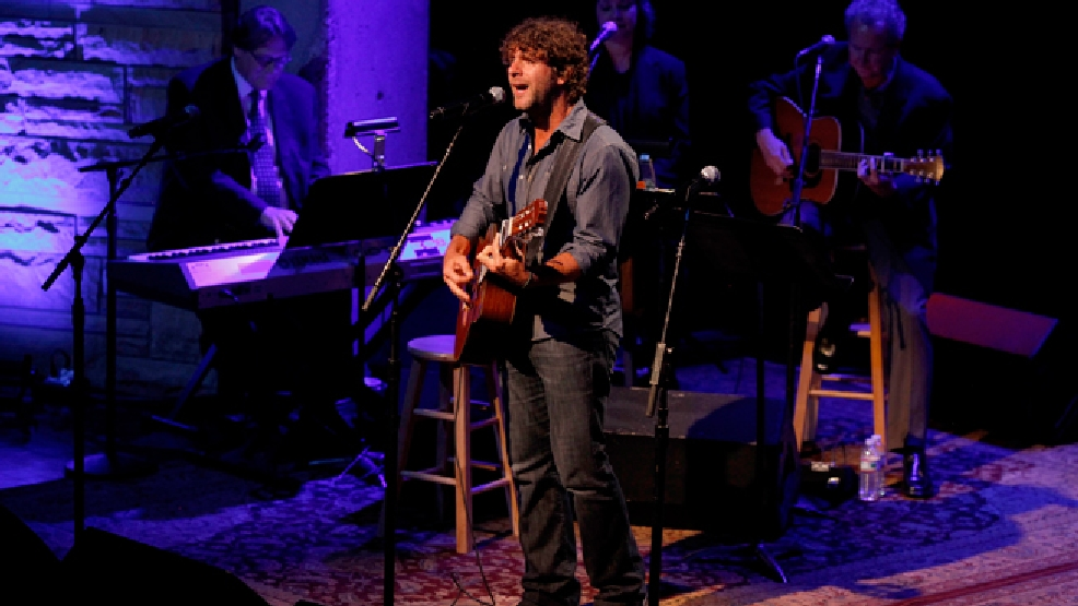 Billy Currington performs during the private Medallion Ceremony at The Country Music Hall of Fame and Museum in Nashville, Tenn. on Sunday, May 22, 2011. (AP Photo/Josh Anderson)