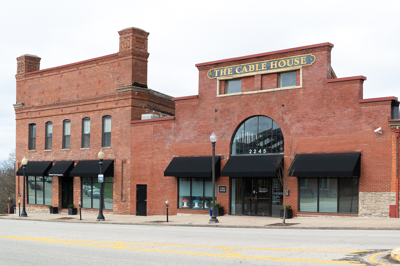 The Cable House was originally built in the 1870s as a powerhouse to pull cable cars up Gilbert Avenue. The Cable House pulled cars up until the last couple years of the 19th century. In the 1950s, it was converted to office space. It's located at 2245 Gilbert Avenue (45206). / Image: Phil Armstrong, Cincinnati Refined // Published: 3.22.19