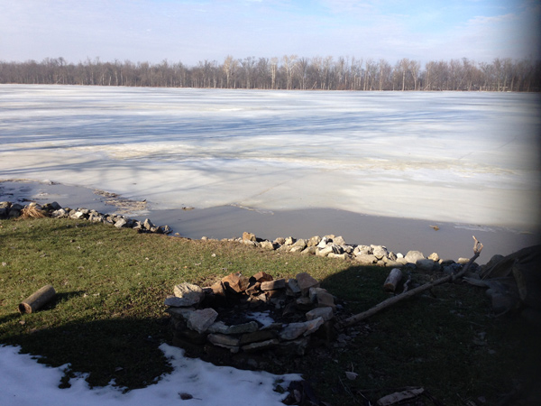 A frozen Maumee River
