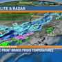 Arctic front brings frigid temps & winter precipitation