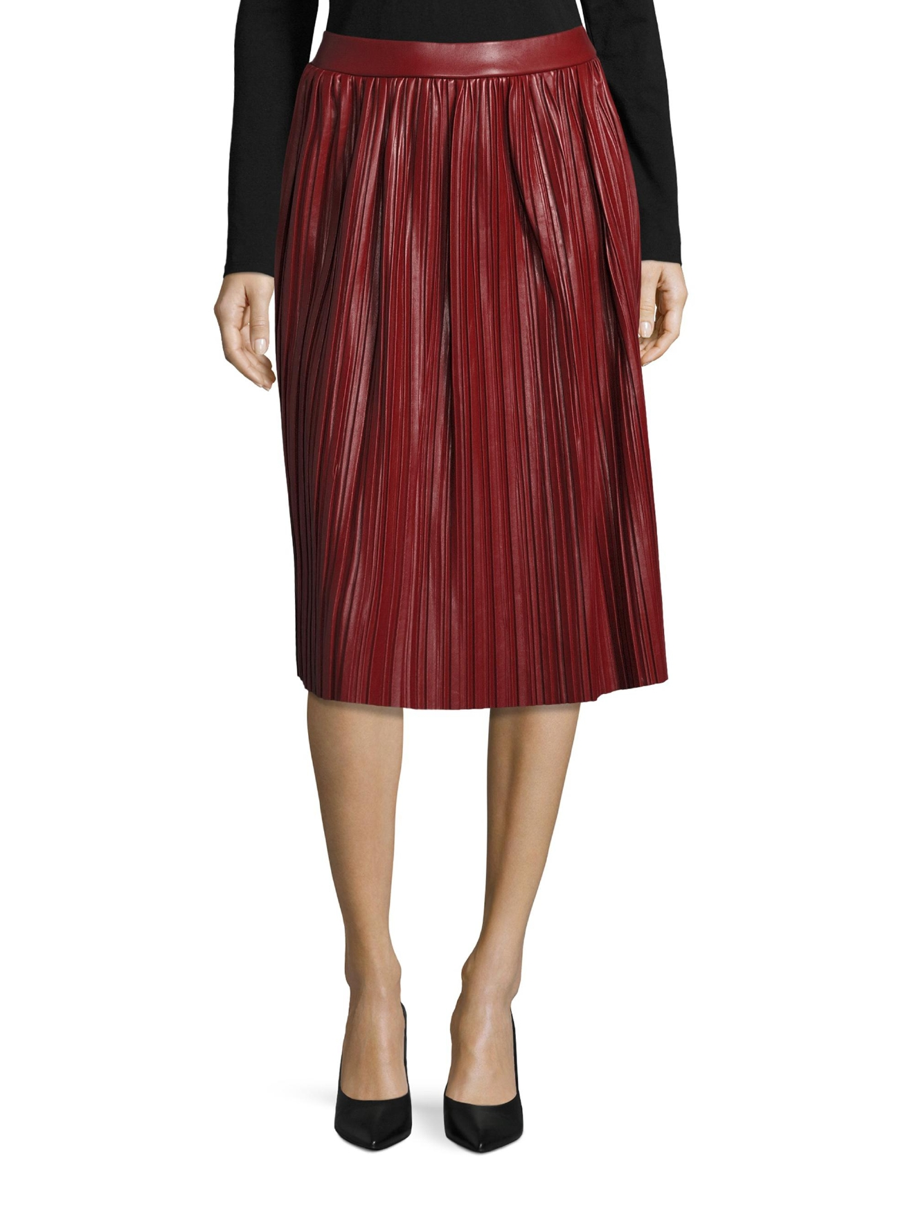 Pleated A Line Skirt  (Saks OFF 5TH)