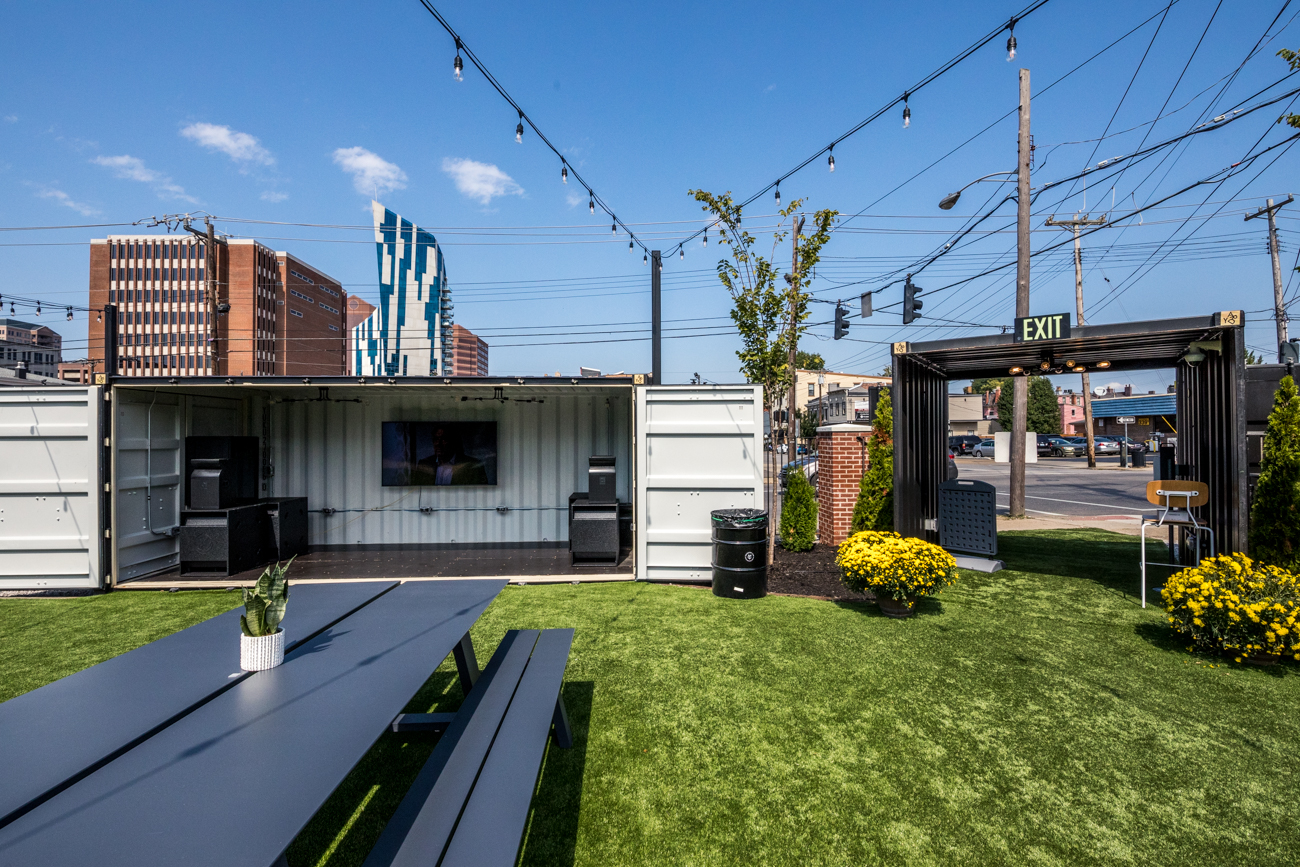 "The unofficial ""front yard"" of Covington is now at the corner of 4th and Greenup Streets. More specifically, the corner is home to an outdoor bar and food container park called Covington Yard where patrons can drink and dine comfortably in an open-air, dog-friendly spot. While there is an interior bar, the majority of the social space is set up outside. The food vendors on site include Django Western Taco (tacos and specialty dips), Mr. Bulgogi (Korean BBQ), and Yard Bird (fried chicken tenders and sandwiches). ADDRESS: 401 Greenup Street (41011) / Image: Catherine Viox // Published: 10.15.20"