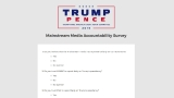 Trump camp creates 'mainstream media accountability survey;' calls for donations