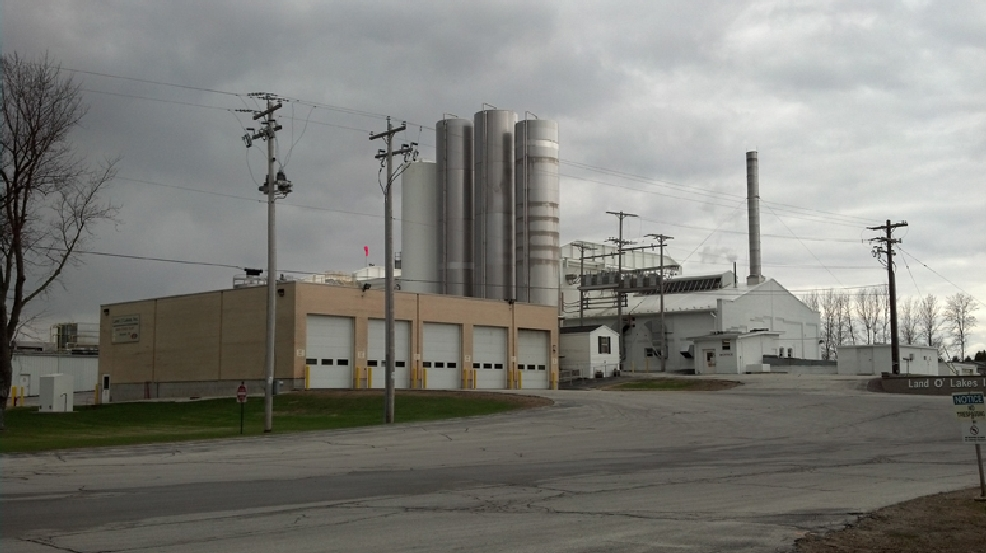 The Land O'Lakes plant in Denmark as seen on Thursday, May 1, 2014. (WLUK/Kelly Schlicht)