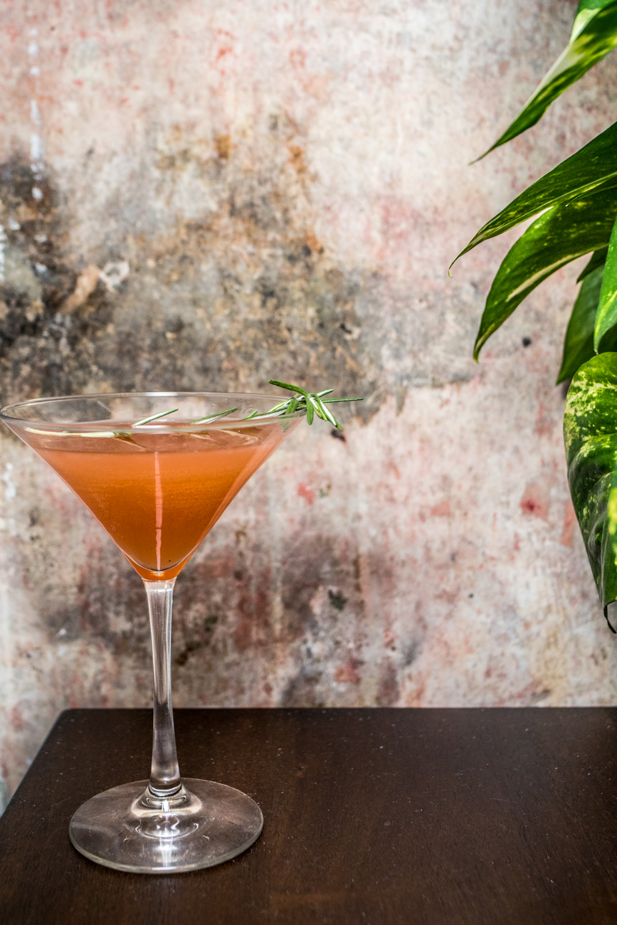 Dear Rosemary: gin, grapefruit, rosemary infused honey syrup, Aperol, and fresh rosemary / Image: Catherine Viox{ }// Published: 7.18.20