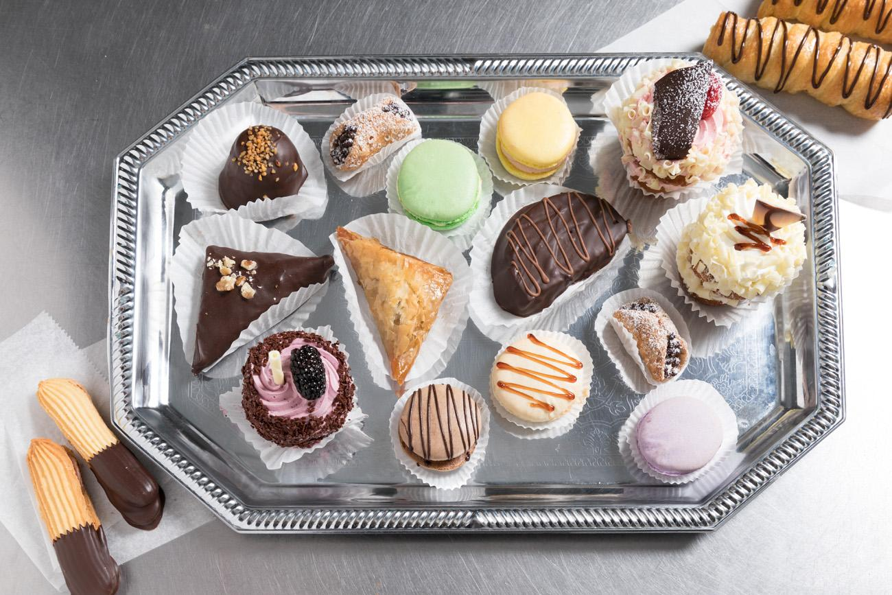 "Baklava, petite-foers, macaroons, cupcakes, and cream horns created by baker George Sias. First published on September 5 in ""A Covedale Baker Uses a 19th Century Recipe to Make Cupcakes"" / Image: Marlene Rounds"
