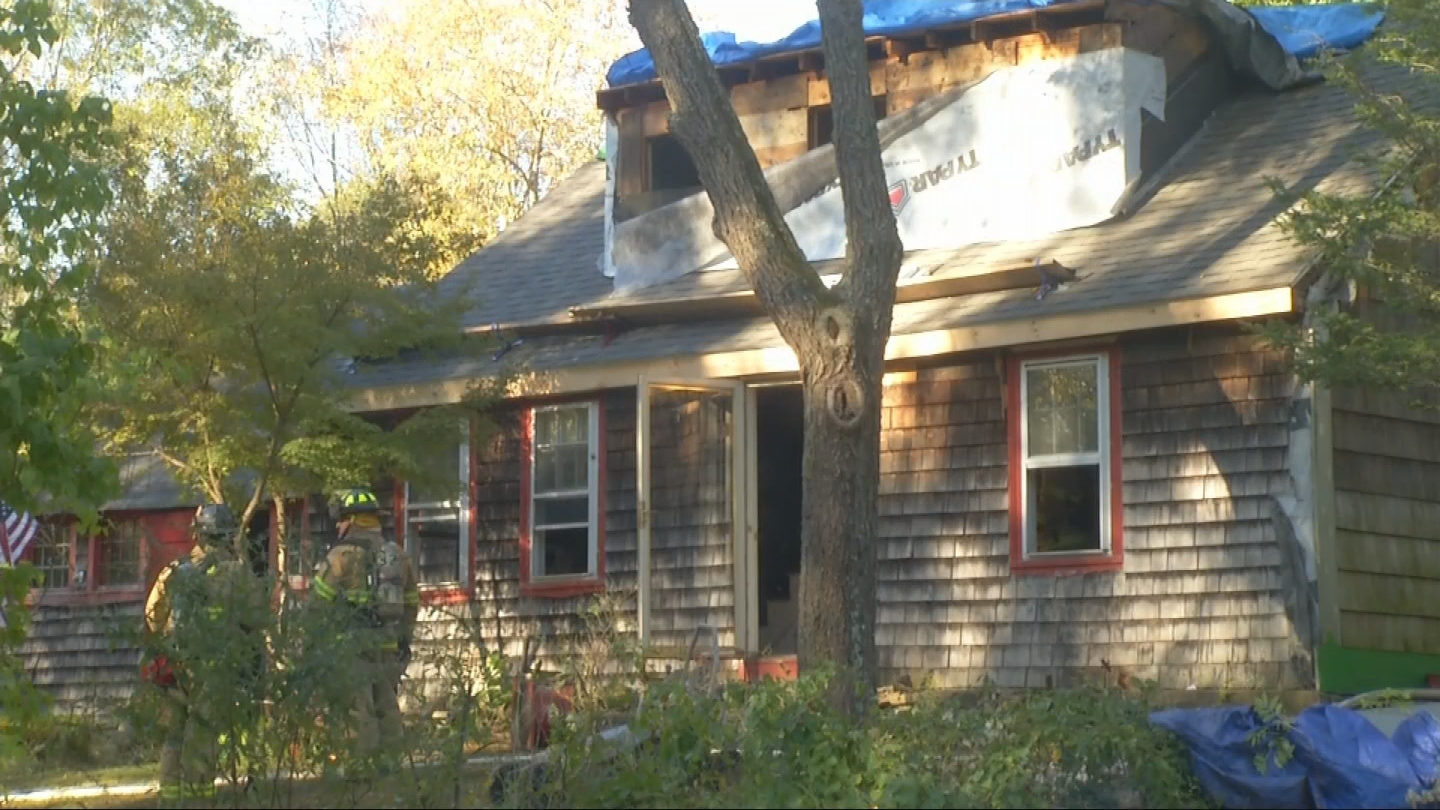 Firefighters put out a fire at 25 Carrs Trail, Tuesday, Oct. 17, 2017. (WJAR)