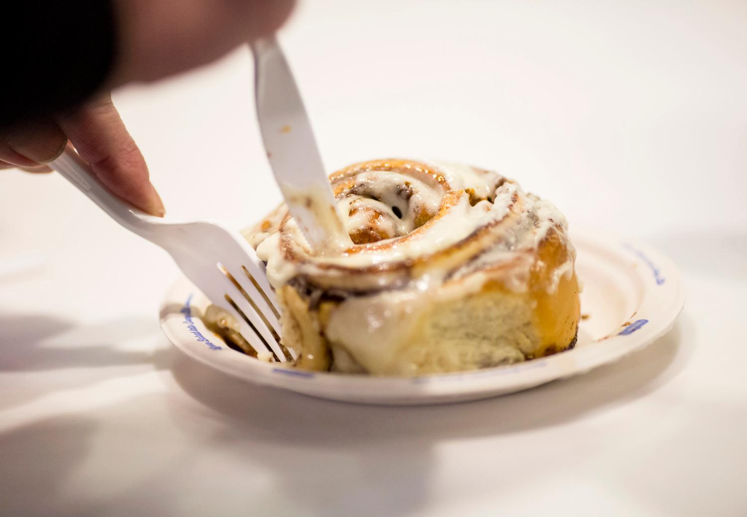 Did you know the first Cinnabon opened in 1985 in Federal Way, WA? Crazy pants! Since it's officially a LOCAL business, we considered it our solemn duty to venture into the kitchen of one local shop to see how the crazy addictive goodness is made. 283,519 calories later...here is a gallery of how these sweet treats are made. Since 1985, there are now over 1,200 locations in 48 different countries. The entire product line is made from scratch, and are baked fresh every half hour in each store. (Sy Bean / Seattle Refined)