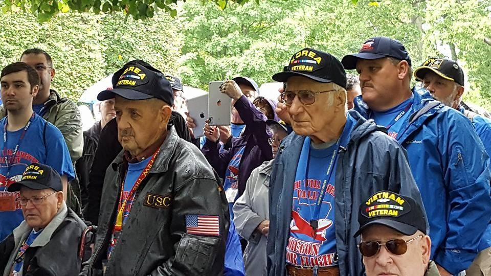 South Willamette Valley veterans took an Honor Flight to Washington D.C. The veterans had the oportunity to visit war memorials and other historic sights across the capitol. Photo courtesy South Willamette Valley Honor Flight