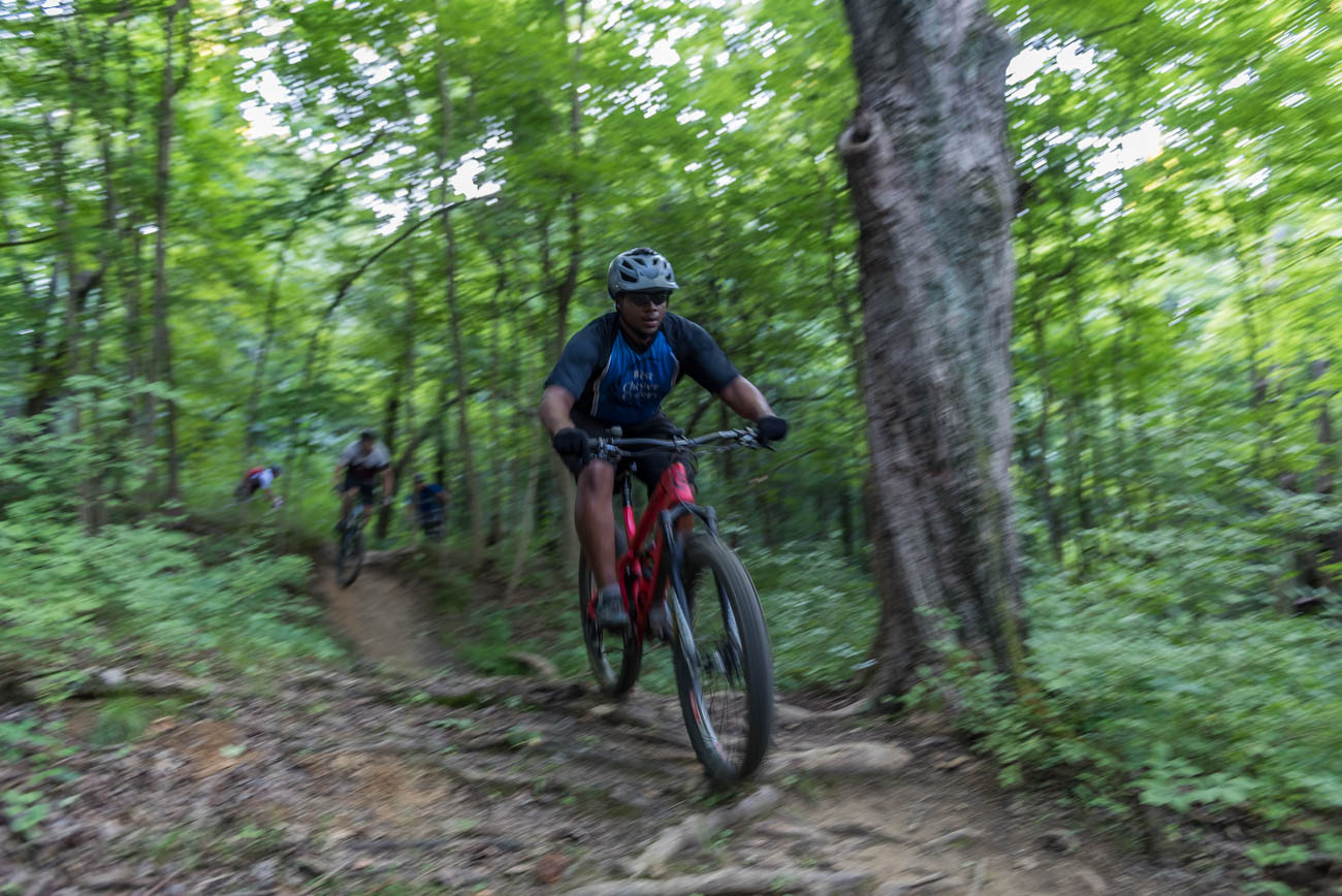 Steep terrain and technical features spread throughout both courses make for a fun, challenging ride. Trail A is a 3.9-mile intermediate course. Trail B is a 4.2-mile advanced course. ADDRESS: 5401 Zion Road (45002) / Image: Mike Menke // Published: 8.31.18