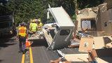 'Total destruction of the travel trailer': Bandon man seriously injured in Hwy 101 crash