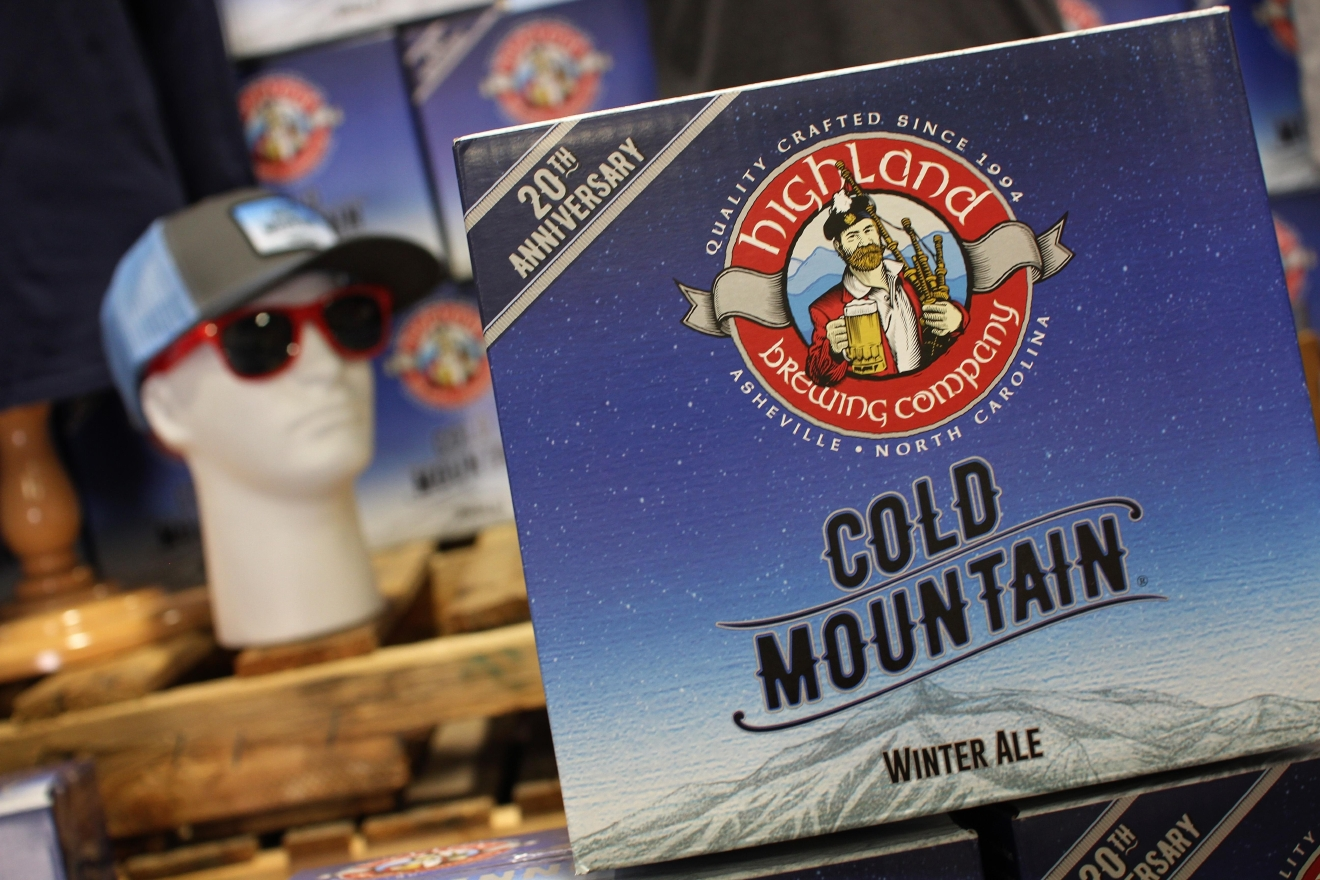 People lined up as early as 10 a.m. on Nov. 10, 2016, outside of Highland Brewing to be the first to get Cold Mountain Winter Ale.  This is the 20th anniversary of the seasonal brew.  (Photo credit: WLOS staff)