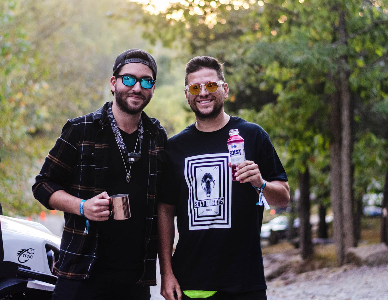 Brian Rubio and Mike Martian enjoying Sandoolee Music Festival while showing off some awesome shades / Image: Kellie Coleman // Published: 11.1.19