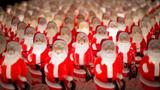 Have you seen the display of 350 light-up Santas in Portland?