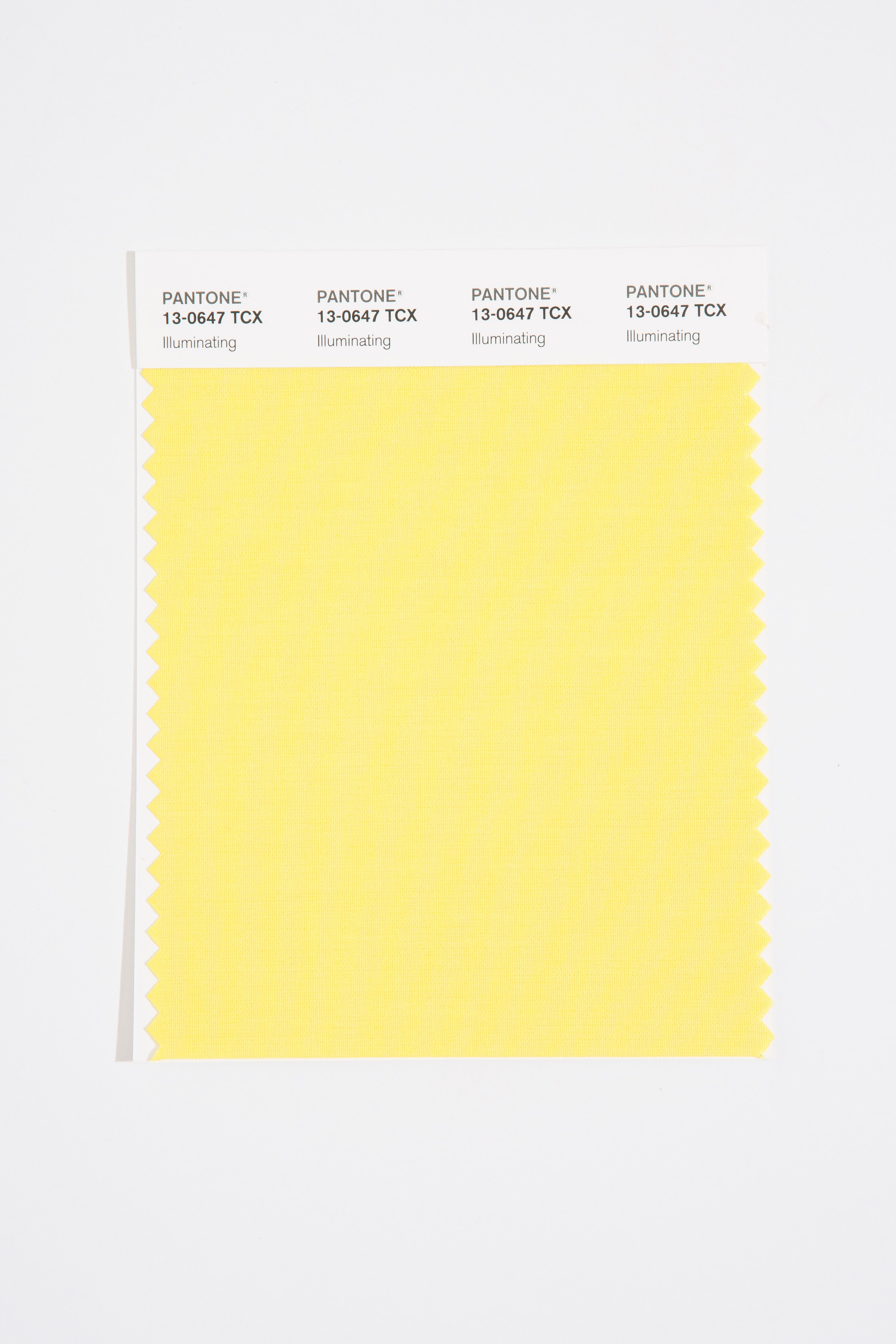 Illuminating is a color that represents sunshine. (Image: Pantone)