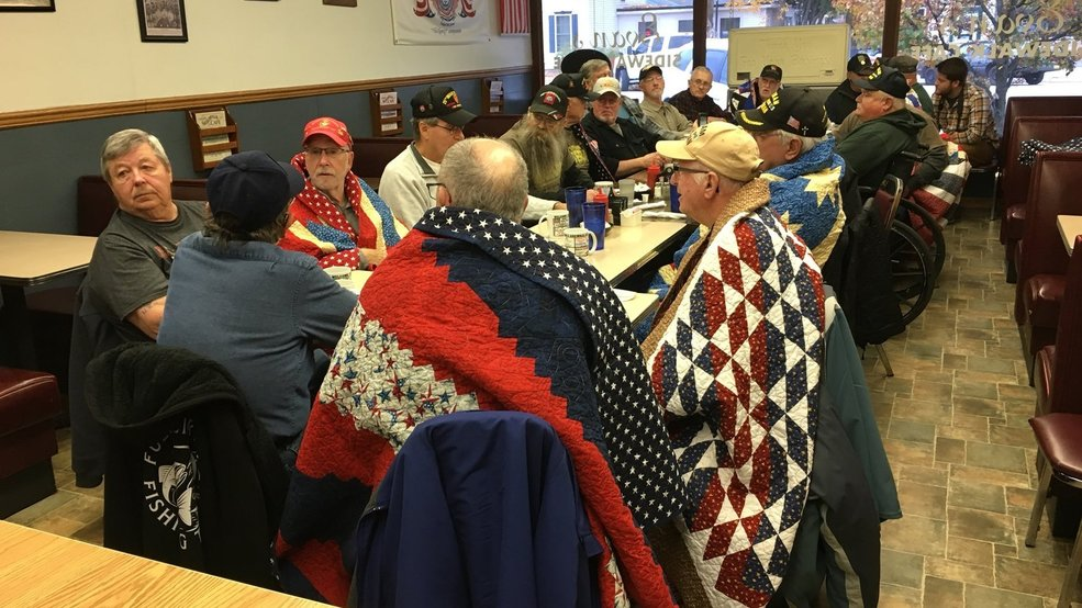 WATCH: The Bristol Group gives veterans handmade quilts - WSBT-TV