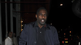 Idris Elba leaves restaurant on crutches after suffering mystery leg injury