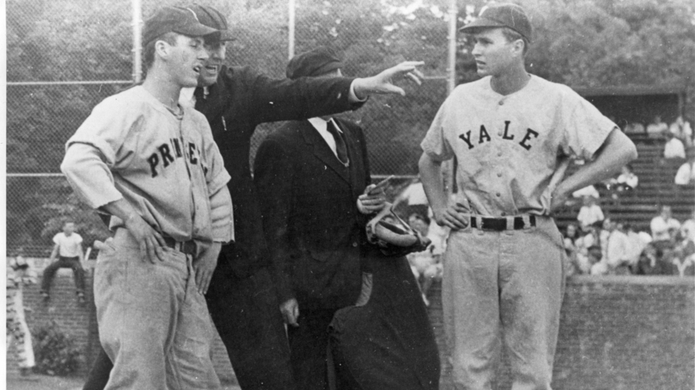 George H W Bush Visited Kalamazoo For First Ever Ncaa Baseball