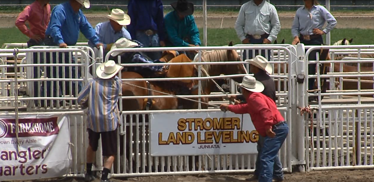 Gauge McBride awaits the start of bareback riding at the Nebraska High School Rodeo Finals. (NTV News)