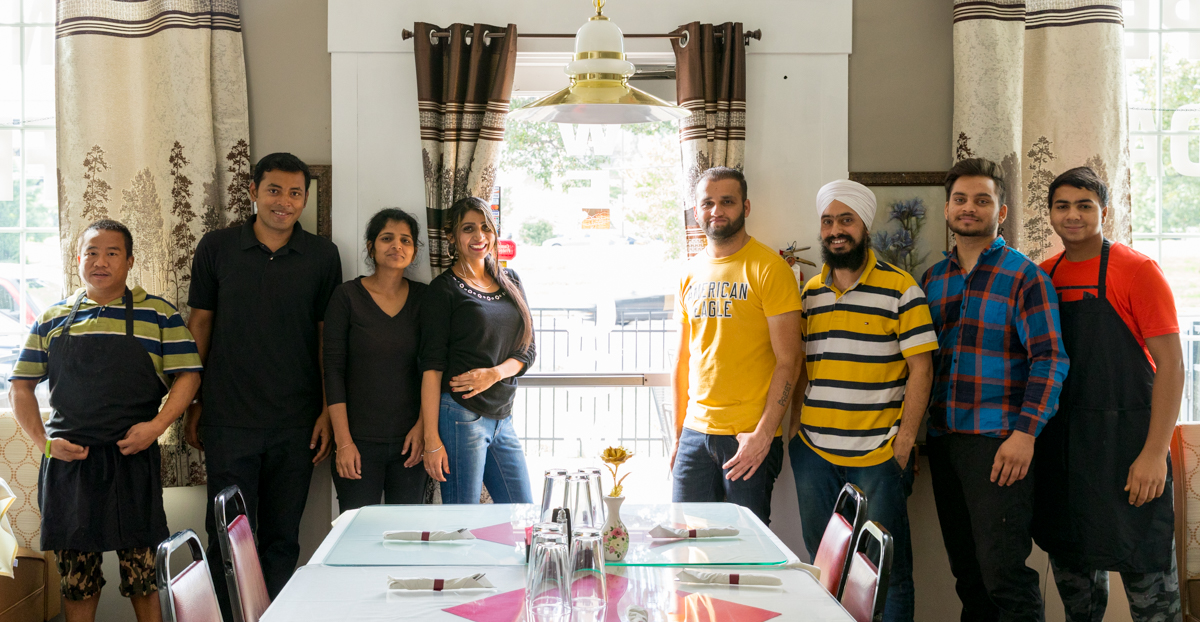 The Dhillon family and Dusmesh crew / Image: Marlene Rounds // Published: 10.25.18