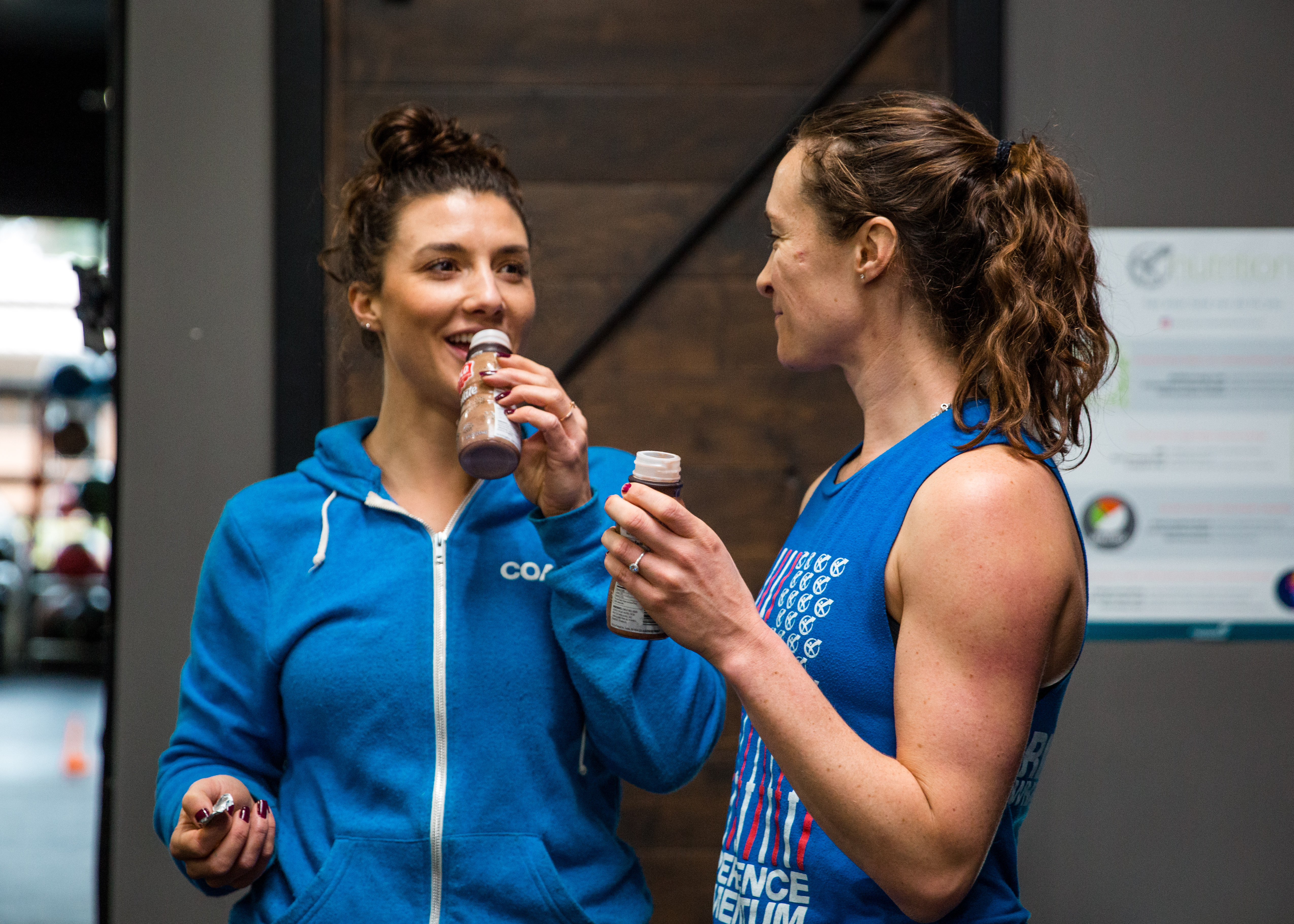 "Research shows that chocolate milk is ""optimal for exercise recovery"" and that athletes could push longer and harder when drinking chocolate milk over other popular sports drinks.{ }The athletes at Experience Momentum seem to agree!"