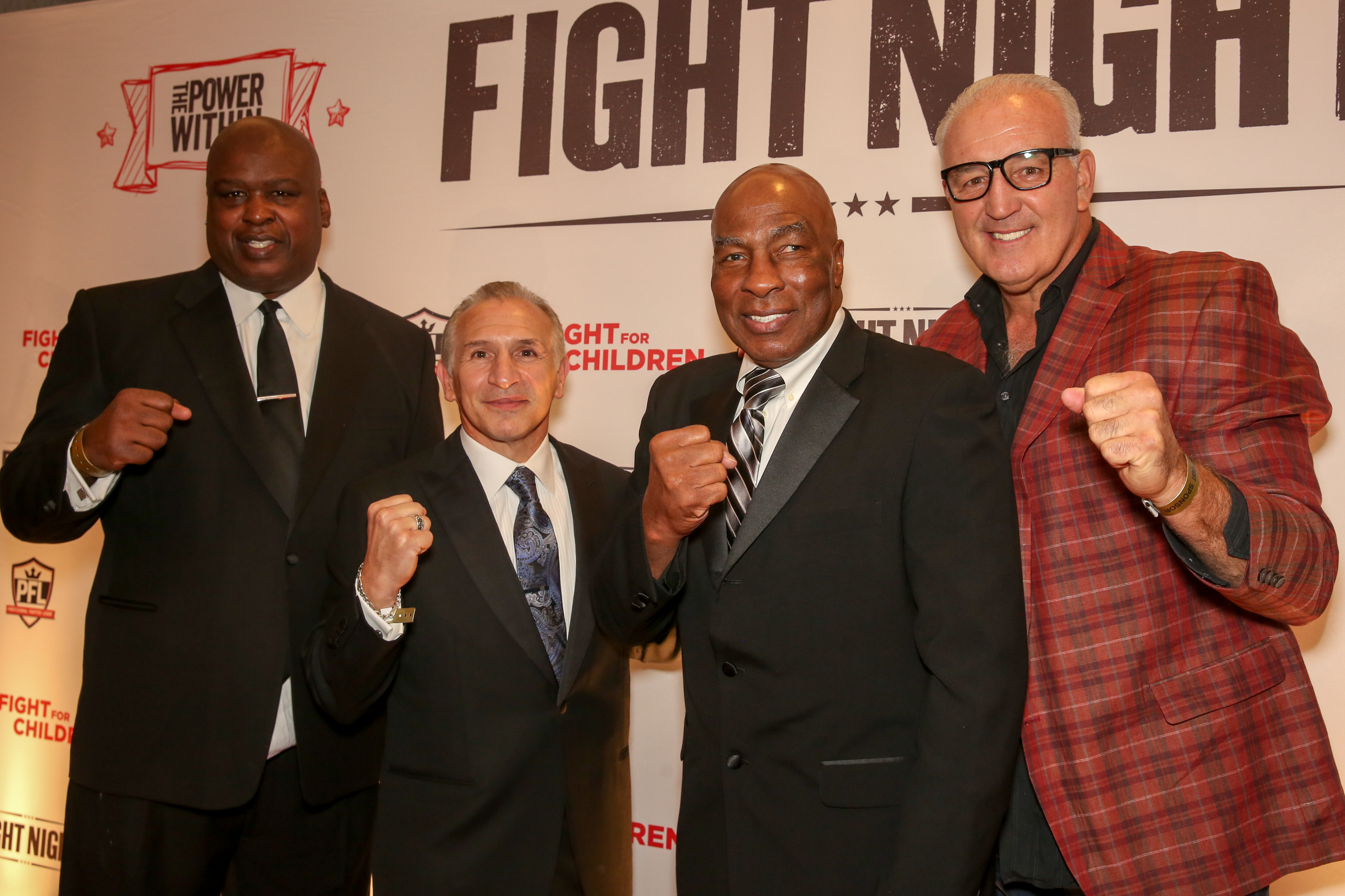 From left, boxing celebrities Buster Douglas,  Ray Mancini, Earnie Shavers and Gerry Cooney. (Amanda Andrade-Rhoades/DC Refined)