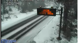 Light snow on Mt. Rose Highway; I-80 open no controls