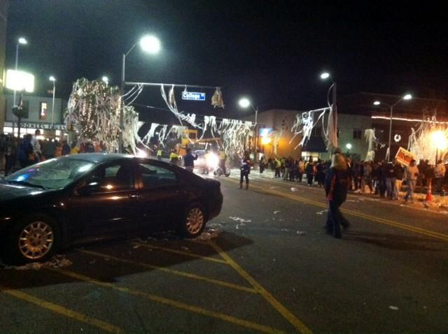 Auburn fans rolled Toomer's Corner following the Tigers' 34-28 victory over Alabama, Saturday, November, 30, 2013.