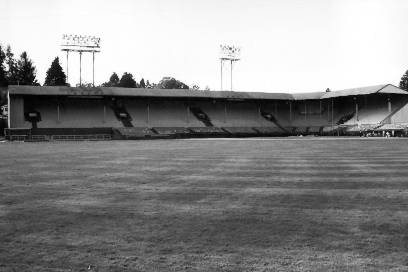 May 2007 photo by Natalie K. Perrin from the National Register of Historic Places nomination for Eugene Civic Stadium.