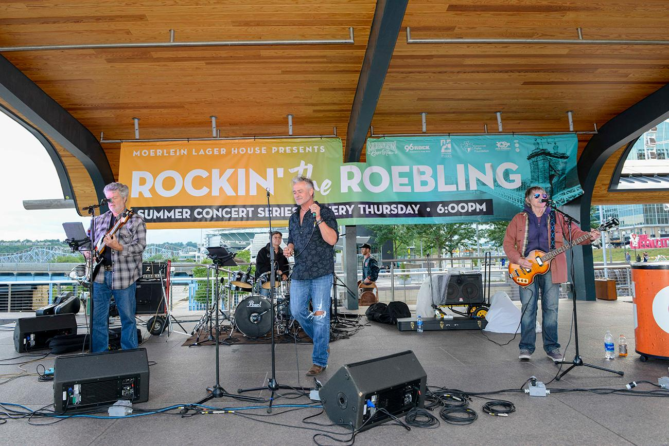 """Rockin'The Roebling,"" the summer concert series happens every Thursday on the Schmidlapp Event Lawn.The Marty Connor Band."