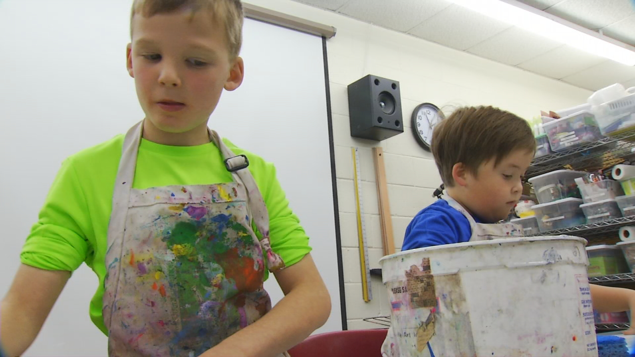 Instructors said a creative holiday art camp for kids is especially important for the children's education. (Photo credit: WLOS staff)