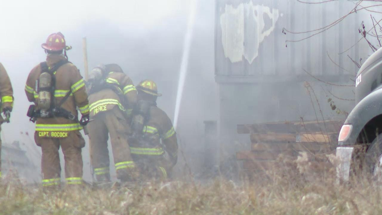 A fire broke out at a Liberty Freight furniture warehouse on West Broad Street. The warehouse is next to the Volunteers of America location (WSYX/WTTE)