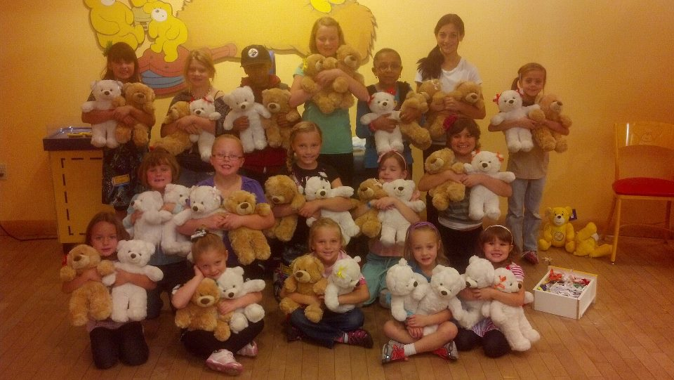 Sam & Jo were inspired by a friend with cancer to donate Build-a-Bears to Primary Children's Hospital (Photo provided by Laurie Brady)