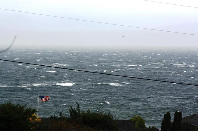 Windy day at Mutiny Bay at Whidbey Island (Photo Courtesy: Raymond Bigelow)