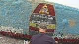 PHOTOS: Florida man paints tribute to Irma victims on South Carolina's iconic Folly Boat