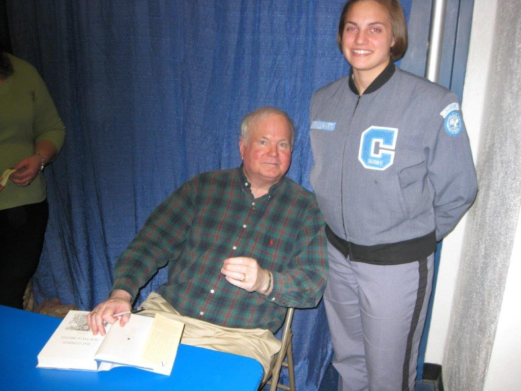 Mandie Brillhart Nethercutt with the late Pat Conroy (Provided)