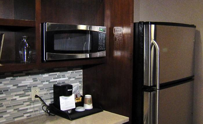 Kitchen inside a room at the new Westin Hotel in downtown Birmingham, Alabama.