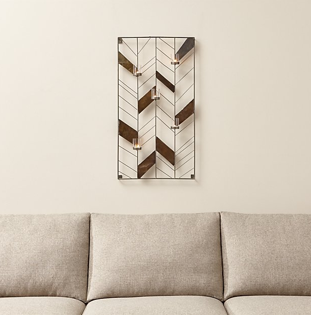 Chevron Metal Wall Candle Holder ($79.95). Find on crateandbarrel.com. (Image: Crate & Barrel)
