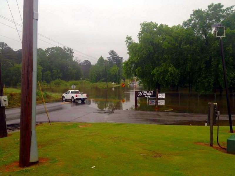 Flooding near the Pell City Civic Center... from @shaggyhairjay
