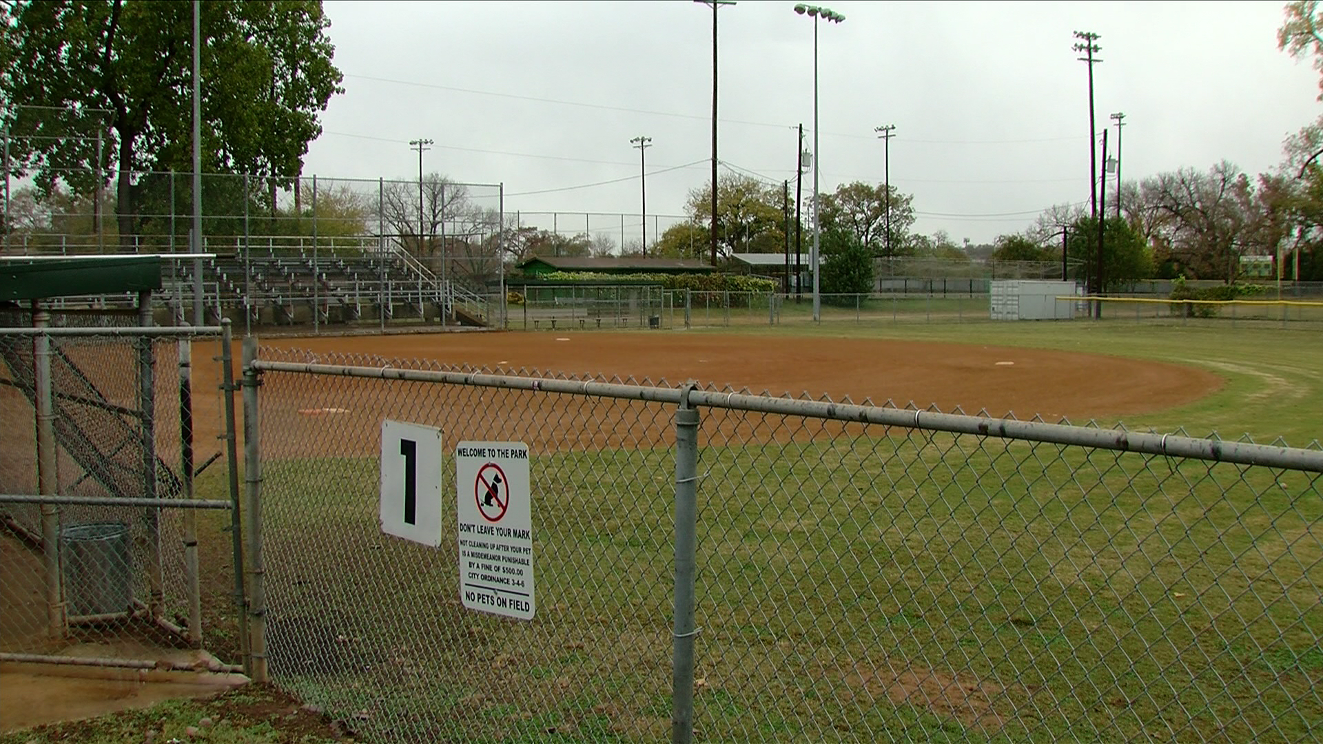 Butler Shores at Town Lake Metro Park emerged as the company's top spot for the stadium. (CBS Austin)
