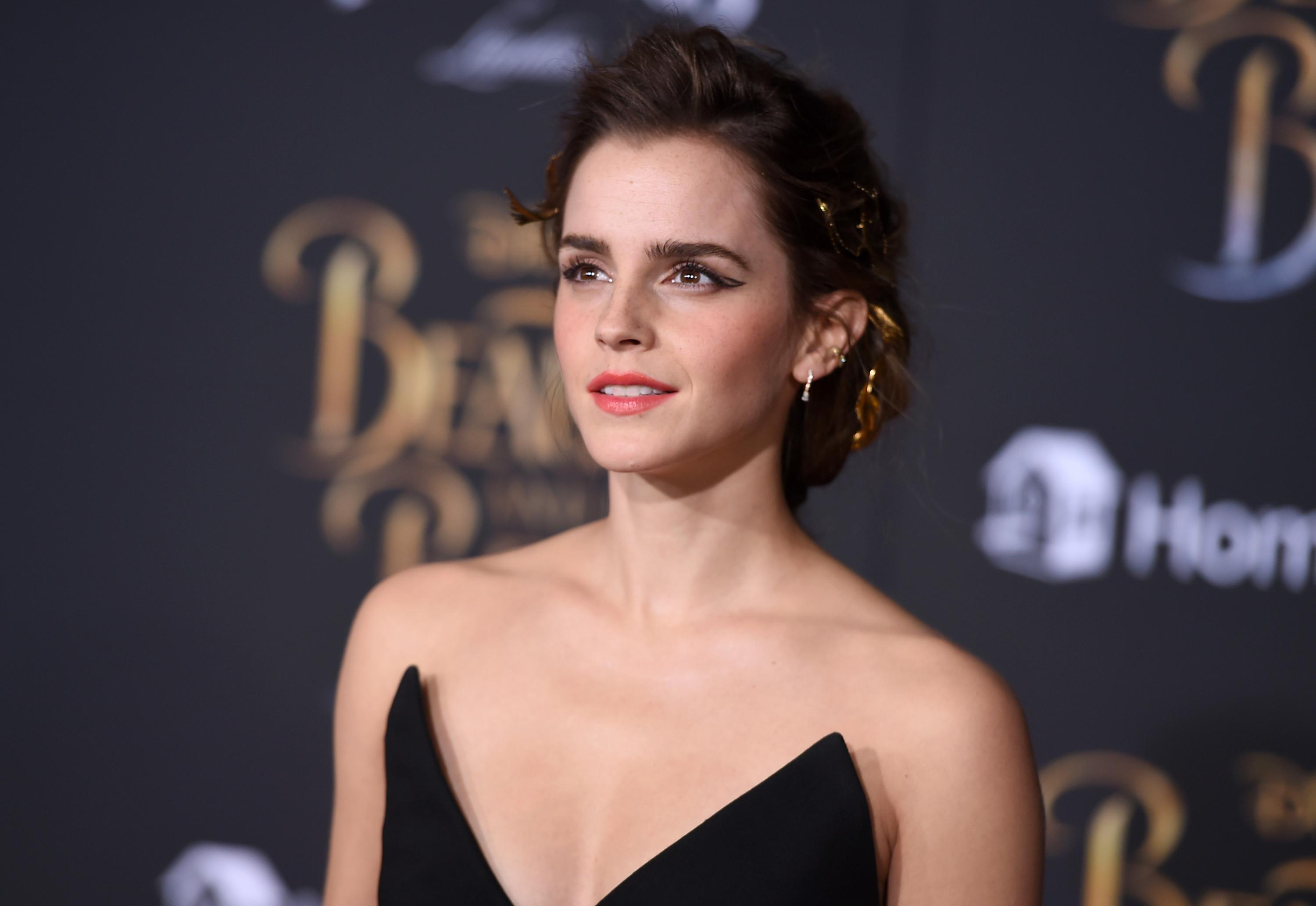 "Emma Watson attends a Los Angeles premiere of ""Beauty and the Beast"" on March 2, 2017. (Photo credit: Jordan Strauss/Invision/AP.)"