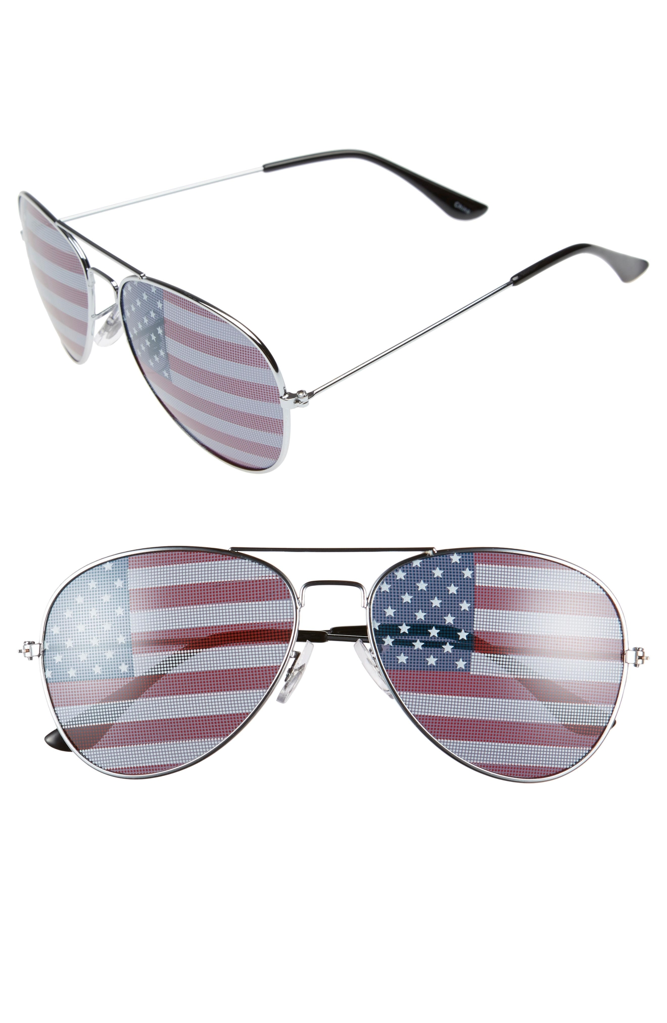 Do not -- I repeat do not-- leave the house without your aviators on Fourth of July! BP. American Flag 60mm Aviator Sunglasses, $12, shop.nordstrom.com (Image: Courtesy Nordstrom)