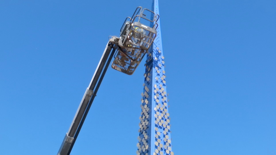 New Northgate Transfer Center will feature a 60-foot blue spire. (Courtesy: City of El Paso)