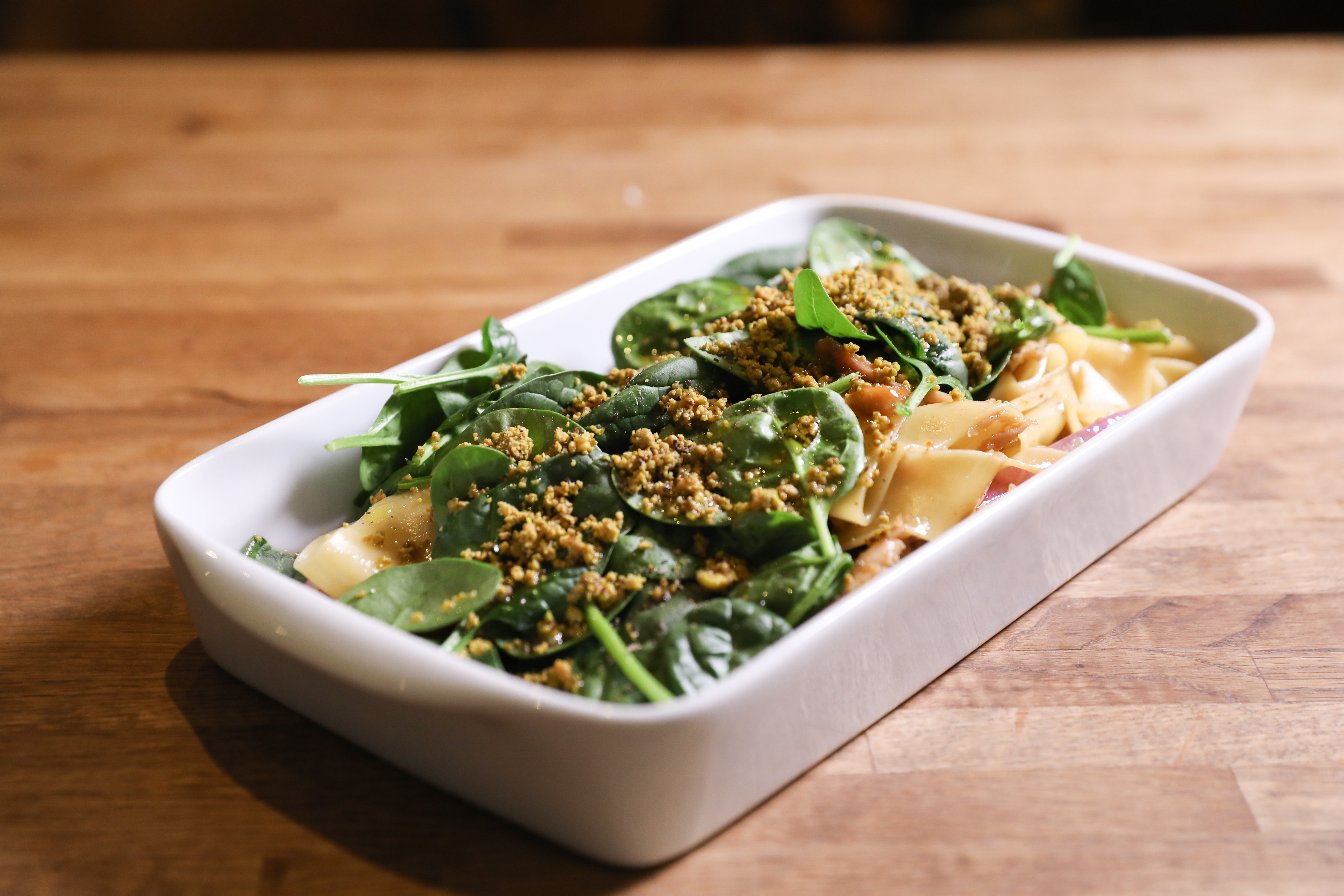 <p>Pumpkin Tagliatelle from Chef Raphael Francois of Le DeSales: At Le DeSales, Chef Raphael Francois makes this pumpkin pasta with an unusual protein: rabbit. We asked him to adapt to make it more accessible to home cooks, and this is the vegetarian version he came up with. (Image: Courtesy Le Desales)</p><p></p>