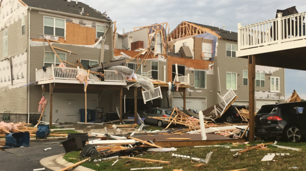 Tornado Causes Severe Storm Damage On Maryland S Eastern