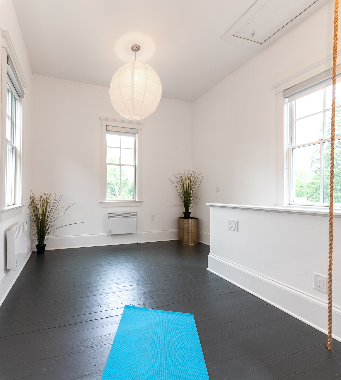 The bell tower today is a yoga studio. / Image: Phil Armstrong, Cincinnati Refined // Published: 8.19.20
