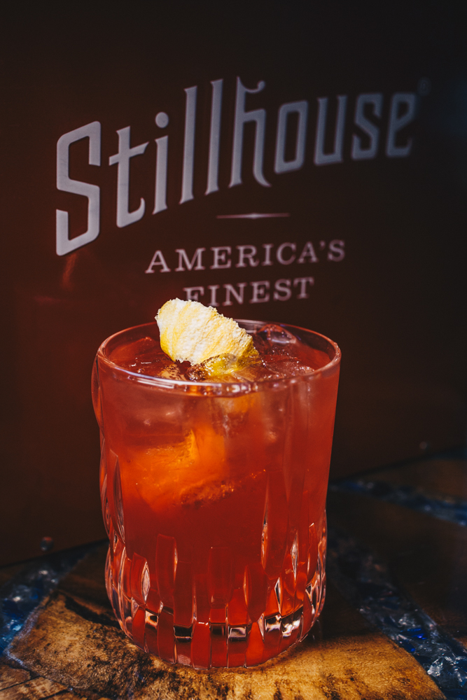 The Pink Negroni: Ole Smoky White Lightnin' Moonshine, Campari, fresh lemon juice, Lillet Blanc, and Burlesque Bitters / Image: Catherine Viox // Published: 3.7.19