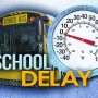 Schools closed, delayed Tuesday morning because of weather