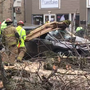Tree falls on car with man inside in Johnstown